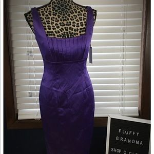 Calvin Klein Purple Satin Dress size 4